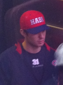 Carey Price at Habs practice Jan. 22, 2012.